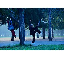 Wu Shu in the Park Photographic Print