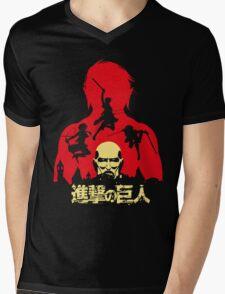 AOT Mens V-Neck T-Shirt