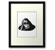 Death hooded evil creepy sunglasses Framed Print