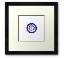 Leeds United Retro Badge Framed Print