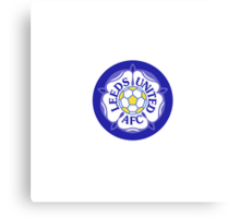 Leeds United Retro Badge Canvas Print