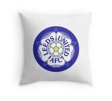 Leeds United Retro Badge Throw Pillow