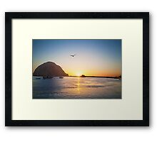 Beautiful Bay Sunset Framed Print