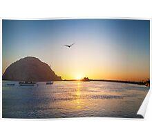 Beautiful Bay Sunset Poster