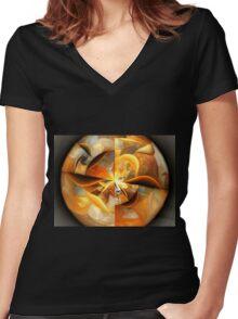 Smiles - Abstract Fractal Artwork Women's Fitted V-Neck T-Shirt