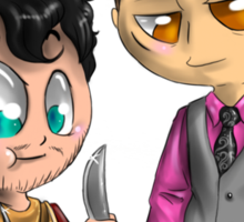 Chibi Hannibal - Cannibalism in two Sticker