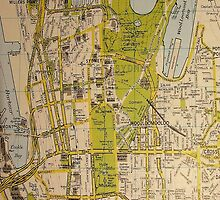 Sydney City Map by Andrew Turley