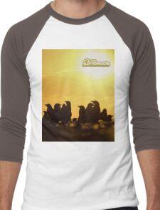 Sunset around penguins Men's Baseball ¾ T-Shirt