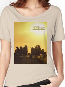 Sunset around penguins Women's Relaxed Fit T-Shirt