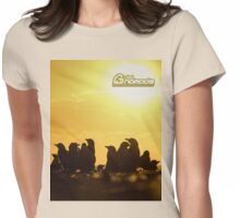 Sunset around penguins Womens Fitted T-Shirt