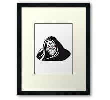 Death hooded evil grusel Framed Print