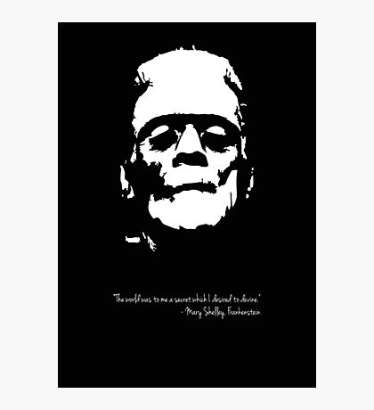 Frankenstein - The Monster - Black and White Photographic Print
