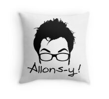 Allons-y! Throw Pillow