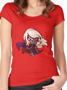 Chibi Dark Elf  Women's Fitted Scoop T-Shirt