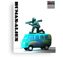 Peace,Love & War (Freedom Fighter) Canvas Print