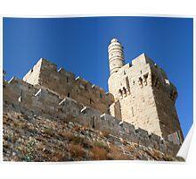 Old Jerusalem citadel. Poster