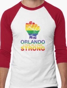 Gay Pride Orlando Strong, Love Is Love Men's Baseball ¾ T-Shirt
