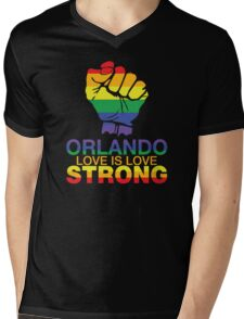 Gay Pride Orlando Strong, Love Is Love Mens V-Neck T-Shirt