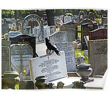 History of Headstones and a Crow Poster