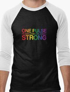 One Pulse, Peace Love Orlando Strong Men's Baseball ¾ T-Shirt