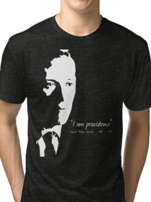 HP Lovecraft - I am Providence - Black and White Tri-blend T-Shirt