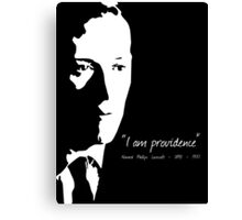 HP Lovecraft - I am Providence - Black and White Canvas Print
