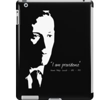 HP Lovecraft - I am Providence - Black and White iPad Case/Skin