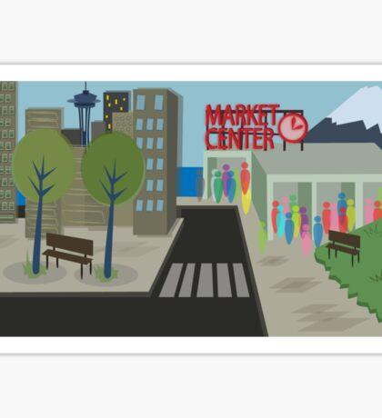 Seattle Downtoon Sticker