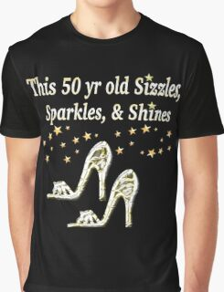 SPARKLING 50TH BIRTHDAY SHOE QUEEN Graphic T-Shirt