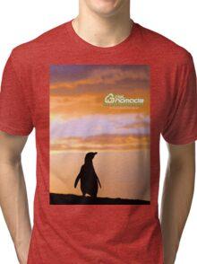 Penguin backlight in Peninsula Valdes - Patagonia Argentina Tri-blend T-Shirt