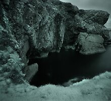 Infra Red - Cliffs & Grass by Mark Haynes Photography