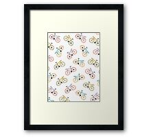 colored bycicles  Framed Print
