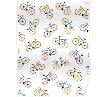 colored bycicles  Poster