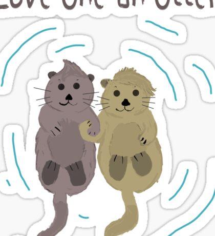 Love One An Otter Sticker