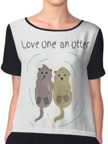 Love One An Otter Chiffon Top