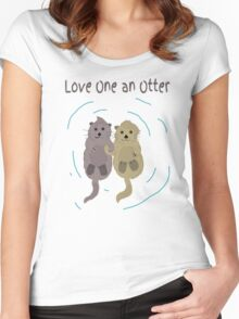 Love One An Otter Women's Fitted Scoop T-Shirt