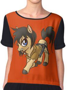 Walking Dead Pony Fighter Chiffon Top