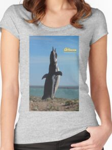 Penguin in Peninsula Valdes - Patagonia Argentina Women's Fitted Scoop T-Shirt