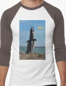 Penguin in Peninsula Valdes - Patagonia Argentina Men's Baseball ¾ T-Shirt