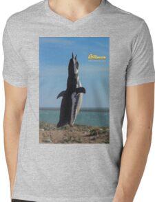 Penguin in Peninsula Valdes - Patagonia Argentina Mens V-Neck T-Shirt