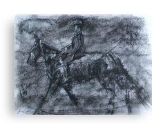 In a dusty black coat...peaky blinders art Canvas Print