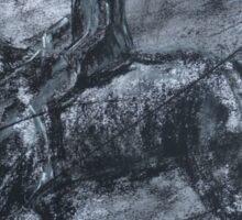 In a dusty black coat...peaky blinders art Sticker