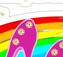 FABULOUS 50TH BIRTHDAY SHOE QUEEN Sticker