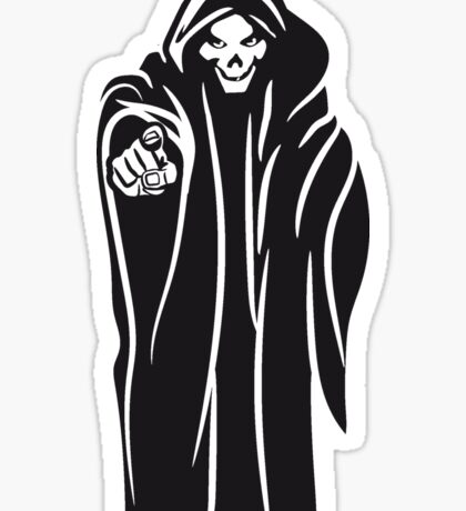 Death hooded evil Sticker