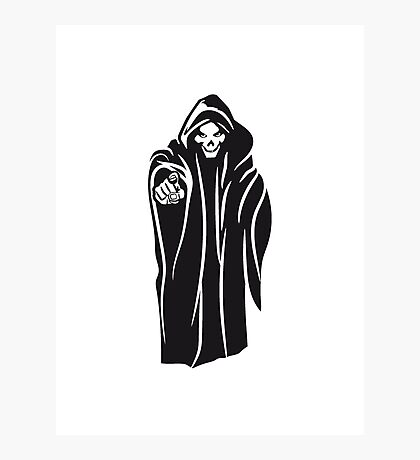 Death hooded evil Photographic Print