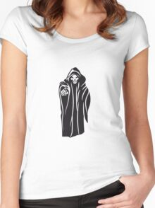 Death hooded evil Women's Fitted Scoop T-Shirt