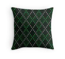 Binary Argyle Throw Pillow