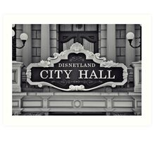 Disneyland City Hall Art Print