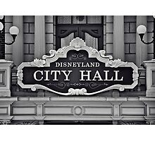 Disneyland City Hall Photographic Print