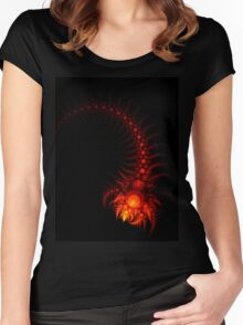Scorpio - Abstract Fractal Artwork Women's Fitted Scoop T-Shirt